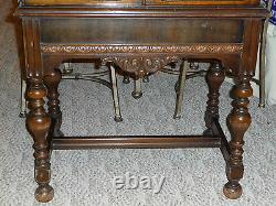 Antique Womens Solid Wood Flip Down Secretary Desk