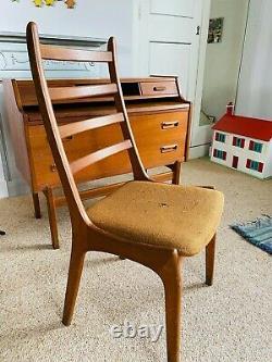 Arne Wahl Iversen Secretary Desk Teak 1960s Mid Century Danish Vinde Møbelfabrik