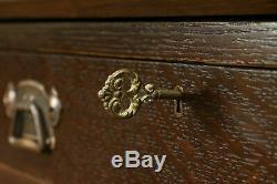 Arts & Crafts Antique Craftsman Oak Secretary Desk & Bookcase #32923