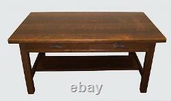 Arts & Crafts Mission Oak Antique Library Table / Desk Harden Model # 528