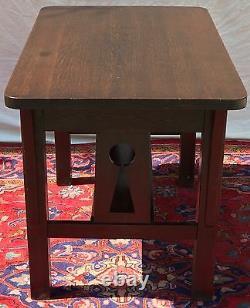 Arts & Crafts Mission Oak Craftsman Antique Office Desk / Library Table