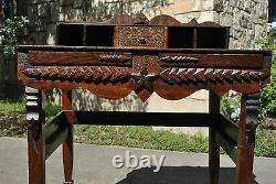 Astounding Early 1900's Texas Folk Art Desk Furniture Tramp Art