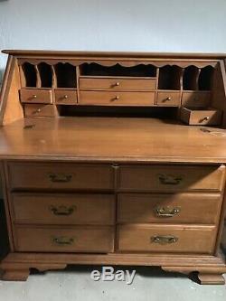 Authentic Conant Balls Handmade Maple Secretary Desk