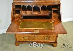 Baker Stately Homes Collection Walnut Queen Anne Bureau Secretary Desk