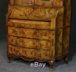 Best Italian Provincial Burled Olive Wood Eglimose Mirrored Secretary Desk C1940