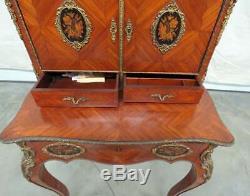 Best Linke Style French Louis XVI Rosewood Inlaid Ladies Writing Desk Secretary