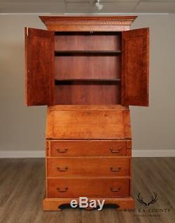 Birdseye Maple Chippendale Style Custom Quality Secretary Desk