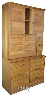 Brandt Ranch Oak Secretary Desk Cupboard Cabinet Bookcase Hutch Dresser #2947
