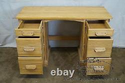 Brandt Ranch Oak Vintage Kneehole Writing Desk