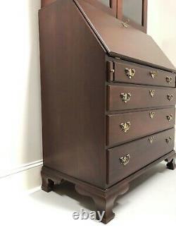 CRAFTIQUE Solid Mahogany Chippendale Secretary with Bookcase