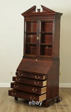 Century Chippendale Style Mahogany Secretary Desk