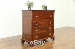 Cherry Antique 1830 Chest, Secret Pull Out Butler Secretary Desk #31030