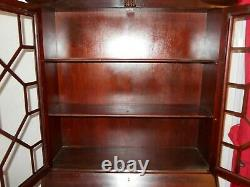 Chippendale Mahogany Secretary Desk with Bookcase Top