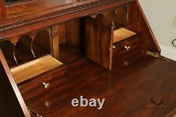 Chippendale Style Solid Cherry Double Bonnet Top Secretary Desk