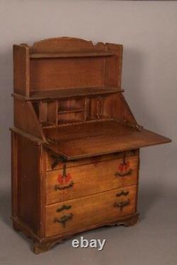 Circa 1930's Rancho Period Secretary Desk with Three Drawers (11156)
