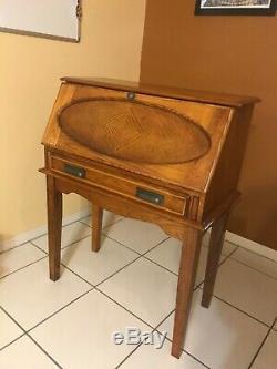 Classic Secretary Oak Stain Finish Desk