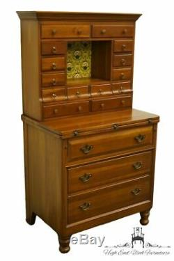DAVIS CABINET Co. Nashville, TN Weathered Cherry 31 Commode Secretary Desk w