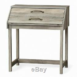 Desk Secretary Antique Front Rustic Writing Vintage Wood Office Brown New