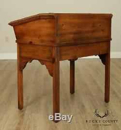 Drexel Heritage Vintage Pine Colonial Style Secretary Writing Desk