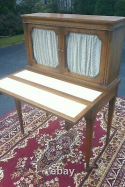 Drop front secretary desk French country style-1970 to 1990 Baker furniture