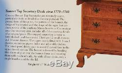 Eldred Wheeler Bonnet Top Secretary Desk Tiger Maple, Just stunning