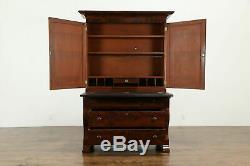 Empire Antique 1830 Mahogany Secretary Desk & Bookcase #33221