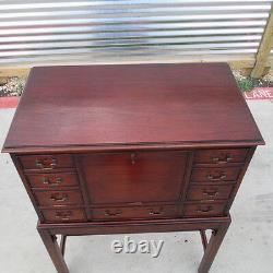 English Antique Drop Front Writing Desk