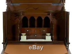 English Edwardian Mahogany Fall-Front Secretary Desk with Built-In Safe c. 1900