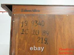 Ethan Allen Country Craftsman Secretary Drop Front Ladies Writing Desk
