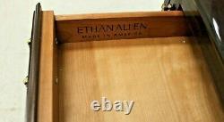 Ethan Allen Georgian Court Queen Anne Lighted Drop Front Secretary Desk