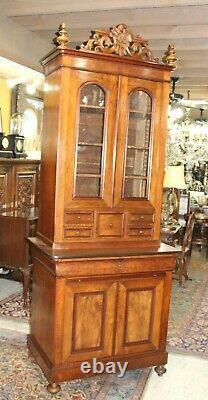 Exquisite American Walnut Butler's Secretary Desk Circa 1880