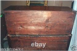 Fine Antique Desk Sheraton Mahogany 2 Door Top Dated 1816 Mass Provenance
