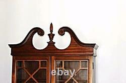Fine MADDOX Mahogany Secretary Desk Bookcase Cupboard Buffet China Cabinet Table