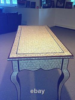 GORGEOUS ONE OF A KIND MOTHER OF PEARL ANTIQUE DESK or TABLE CIRCA 1940-1950's