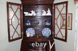 George III Chippendale Slant Front Secretary desk with bookcase, circa 1790