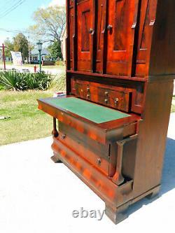 Gothic Empire Cylinder Roll Secretary DeskMahoganycirca 1820