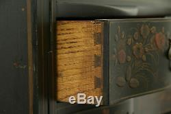 Hand Painted Lacquer Chinese Style Antique Secretary Desk & Bookcase #32311