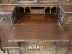 Hekman Secretary with Bookcase Hutch 1927-1936 Writing Desk