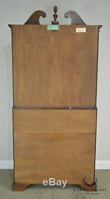 Henkel Harris Chippendale Style Carved Walnut Blind Door Secretary Desk
