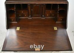Henkel Harris Mahogany John Hancock Secretary Desk w Bookcase Chippendale Style