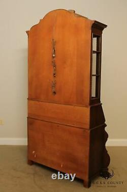 Henredon'Four Centuries' Collection Oak Bombe Baroque Style Secretary Desk