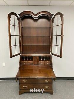 Hickory Chair Burlwood Mahogany Secretary Desk Historical James River Plantation