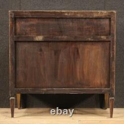 Inlaid bureau antique style Louis XVI desk secrétaire chest of drawer furniture