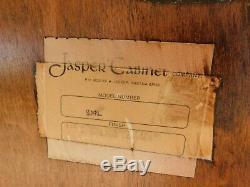 Jasper Cabinet Queen Anne Cherry Slant Front Secretary Desk Lighted Curio Top