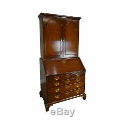 Kittinger Historic Newport Collection Mahogany Chippendale Secretary Desk