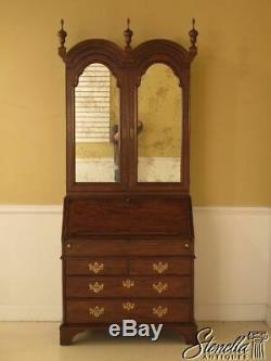 L28470EC BAKER George III Walnut Secretary Desk w. Bookcase Top