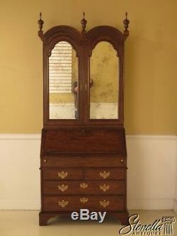 L28470E BAKER George III Walnut Secretary Desk w. Bookcase Top