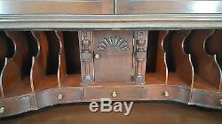 Large Antique American Made Mahogany Secretary Drop Front Desk Cabinet