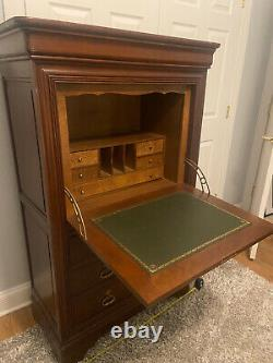 Magnificent! Antique Drop Front Writing Desk With Hidden Drawer Secretary