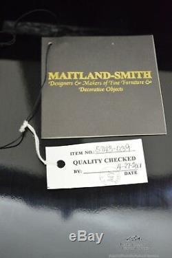 Maitland Smith Hand Painted Large Chinoiserie Secretary Desk